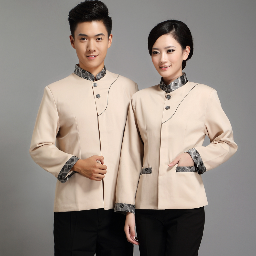 Feng ming hotel uniforms fall and winter clothes waiter sleeved work uniforms hotel rooms pa cleaning service men and women