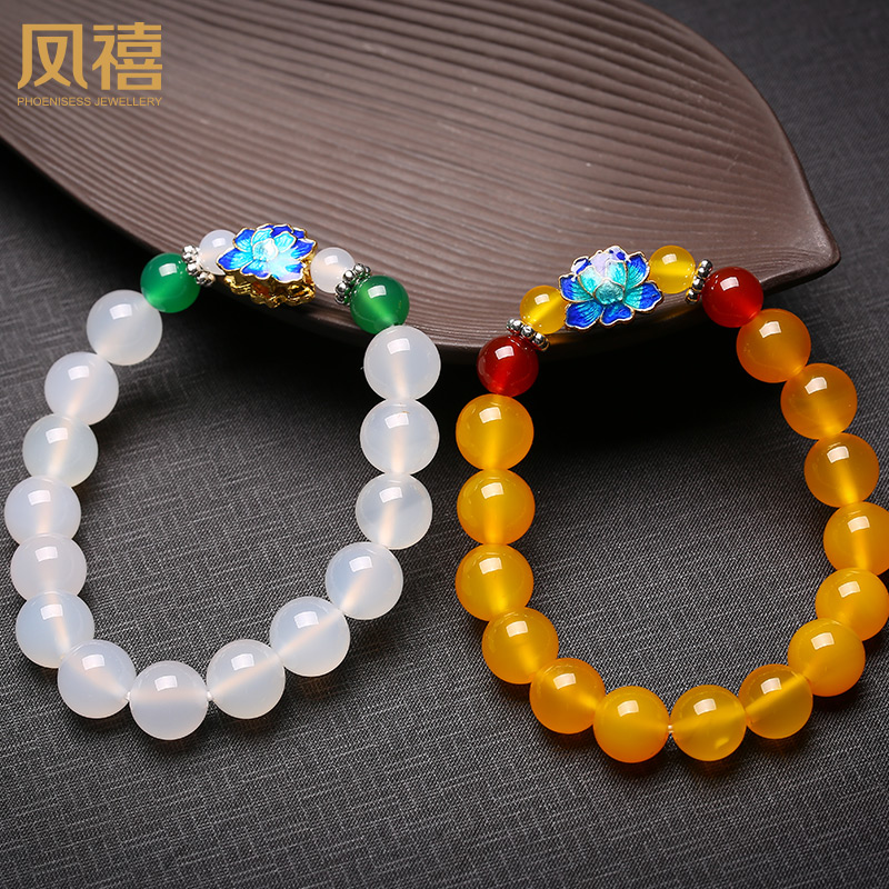 Feng xi jewelry agate bracelet natural jade ock chain chain for fine fashion jewelry genuine female models