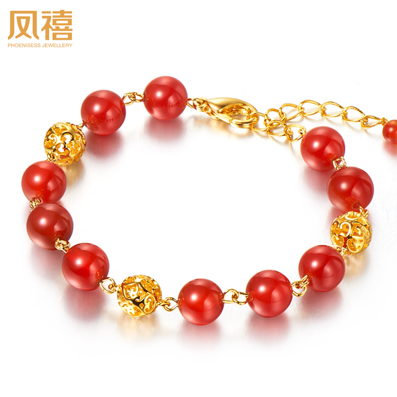 Feng xi jewelry fleeting shade of red agate bracelet natural jade bracelets jade beads chain jewelry jewelry female models