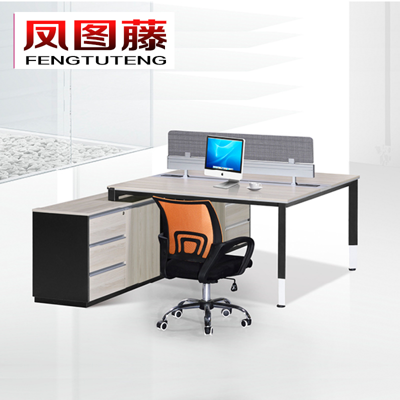Fengtu rattan new wood feet of office furniture modern minimalist desk desk desk desks and chairs double digit combination screens bit