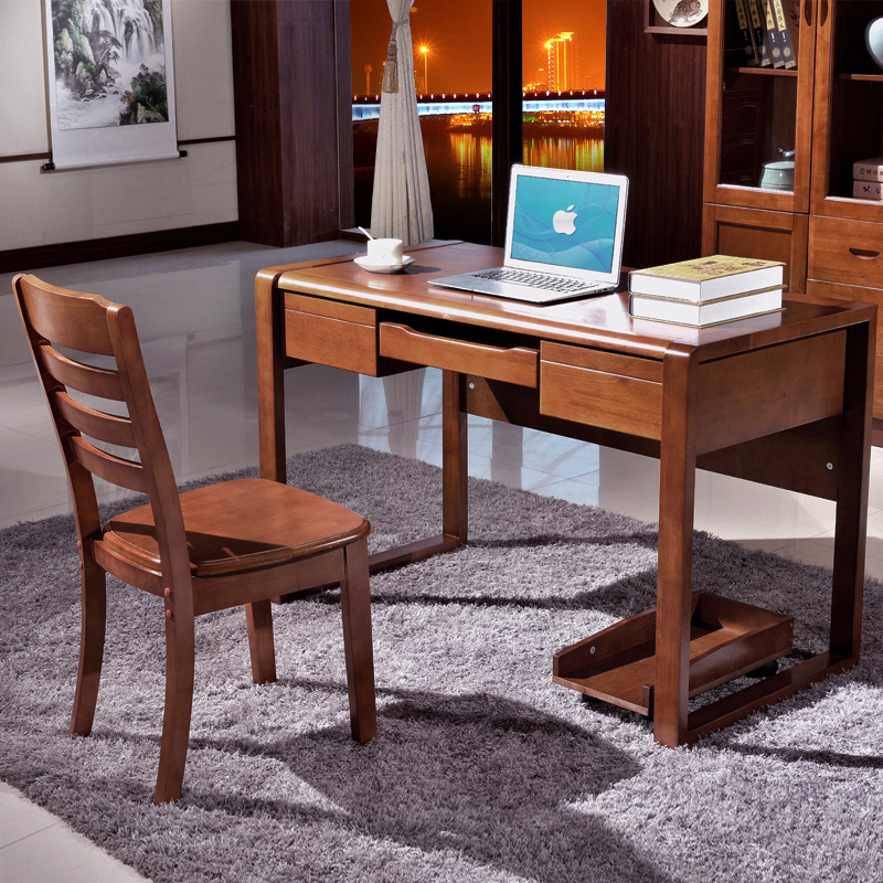 Fertile strip solid wood oak desk modern minimalist home desktop computer desk desk desk furniture