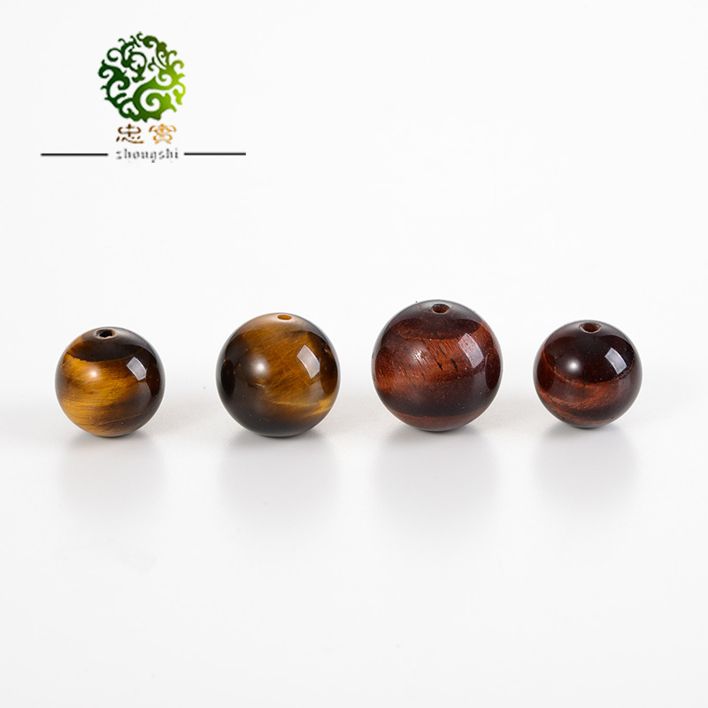 Fidelity natural selection of red wood becomes stone tiger eye stone beads scattered yellow tiger eye beads diy jewelry accessories accessories
