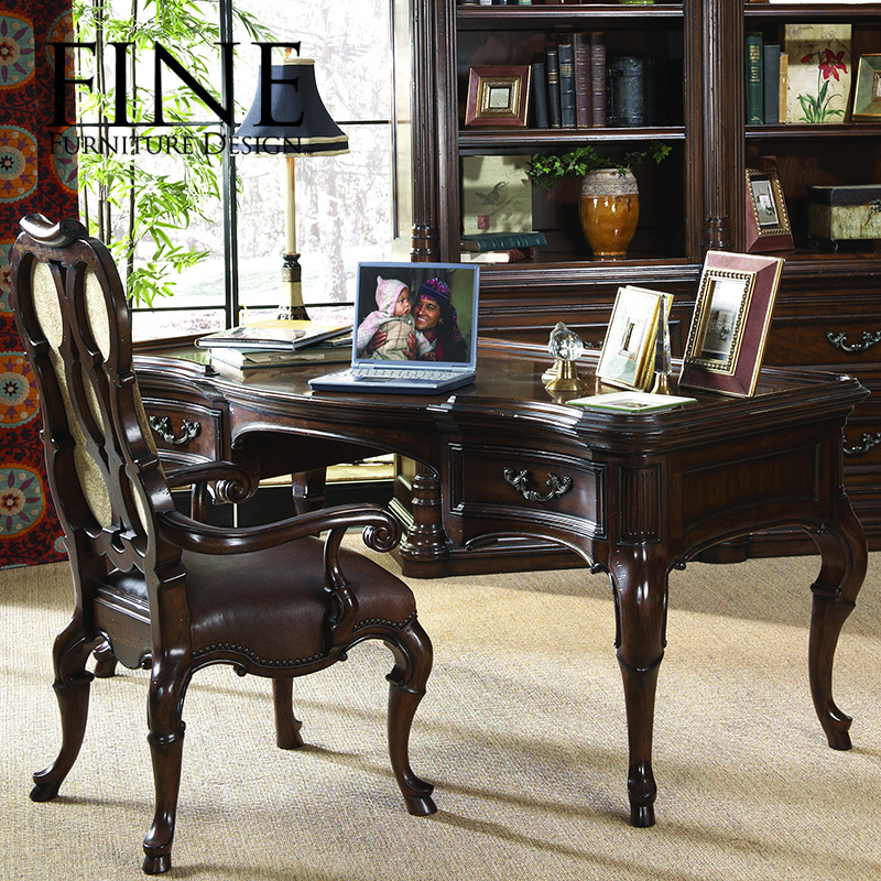 Fine bamboo furniture american tradition of classical furniture solid wood frame luxury desk writing desk 950