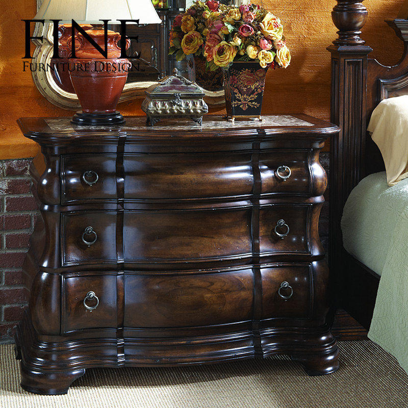 Fine refined traditional american furniture bedroom nightstand bedside cabinet solid and durable 950