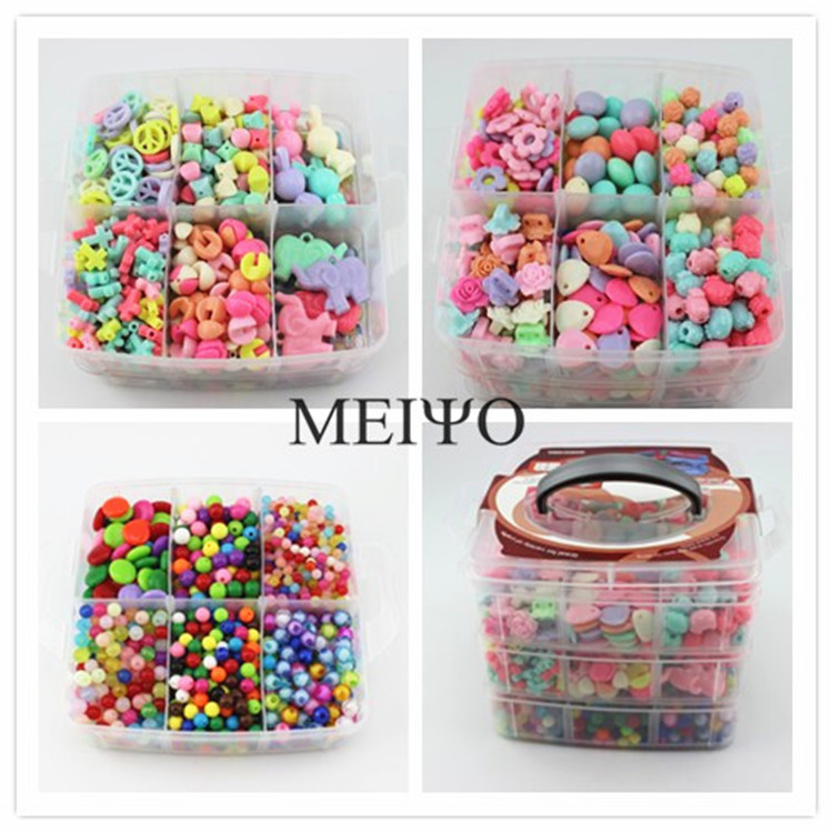 Fine training wear beads amblyopia training wear beaded bead toy needle diy handmade beaded material