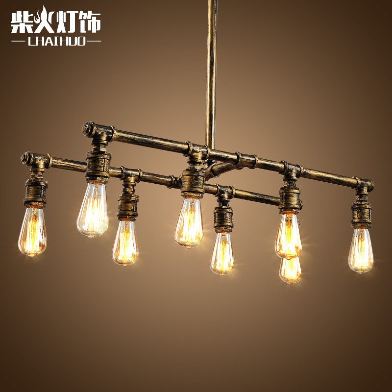 Firewood loft style retro rustic living room chandelier lighting chandelier bar sets boutique creative personality edison pipes
