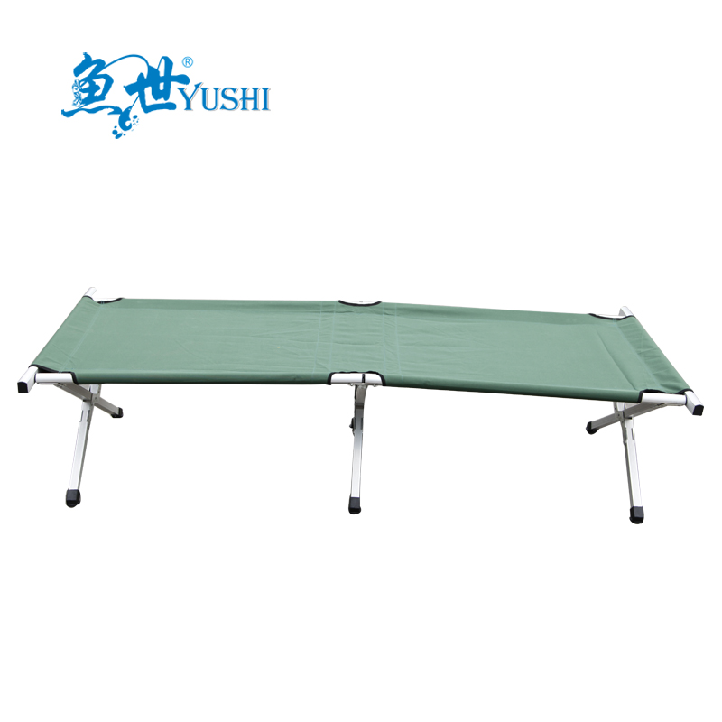 Fish world green aluminum aluminum folding camp bed twin bed bed fishing outdoor fishing supplies with a cloth