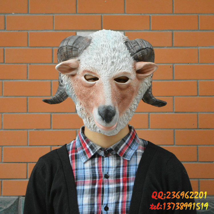 Five beshimova contention fuk cos. sheep sheep mask party mask halloween mask dance party mask animal mask headgear