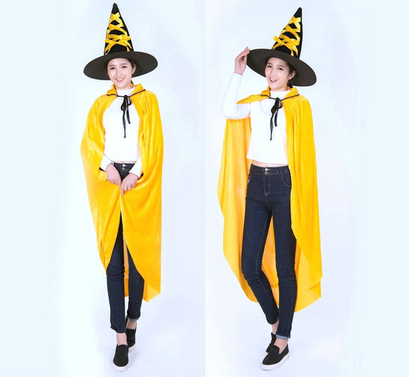 Five beshimova contention fuk golden cloak cloak cloak halloween costumes performing witch hat pumpkin hat pumpkin bag