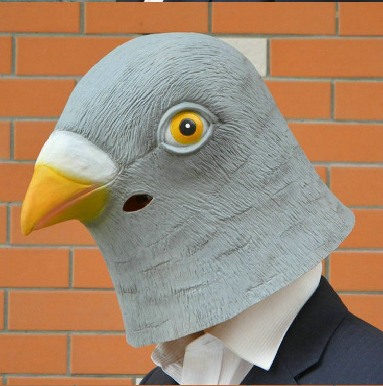 Five beshimova contention fuk halloween masquerade party mask mask animal masks/sub pigeon bird mask headgear mask
