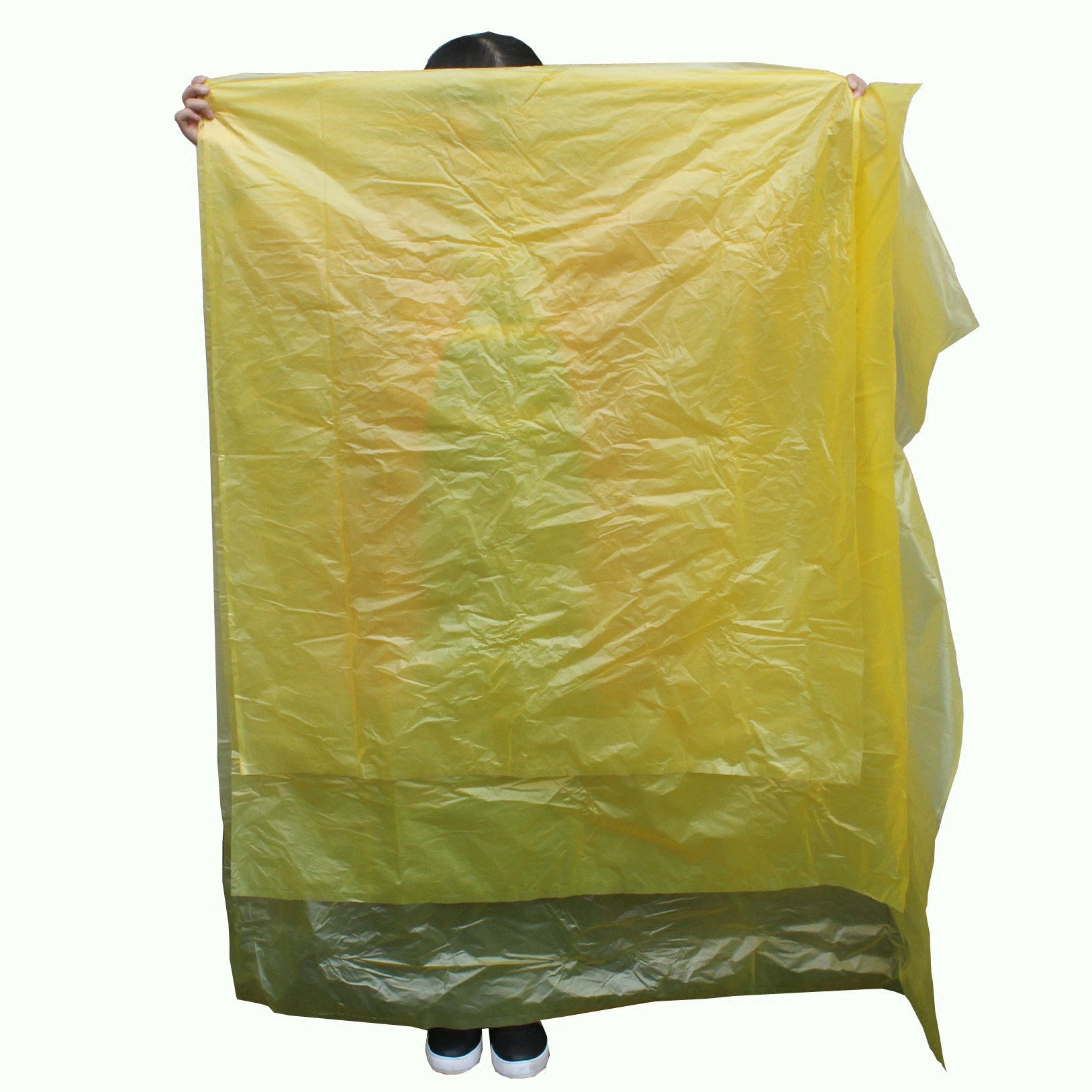Flat yellow 120l 240l liter sanitation large garbage bags thicker plastic bags 80 liters 1 00L sanitation bags