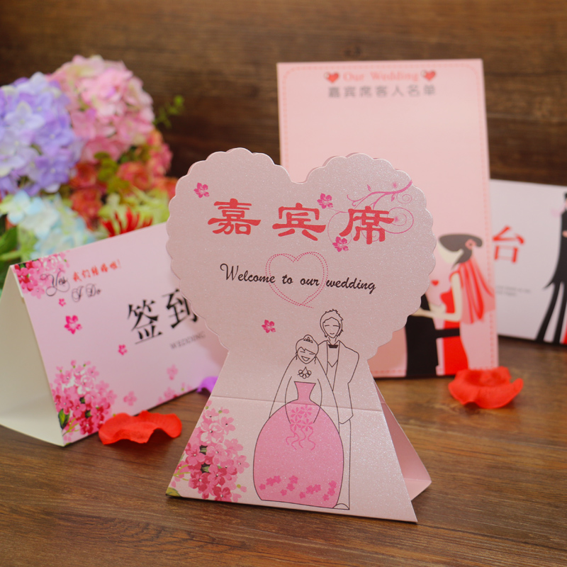 Flora wedding taiwan card seat card table cards creative wedding attendance card personalized wedding holding flowers wedding cards seats