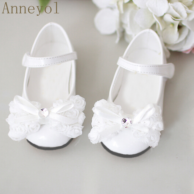 Get Quotations · Flower girls shoes single shoes leather dress shoes princess shoes girls shoes student shoes flower girl