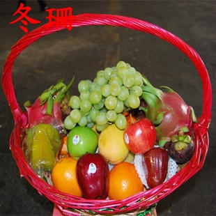 Flowers and fruit baskets sanming autumn gift women's day gifts to the elders condolence visit courier zahngzhou longyan linqing