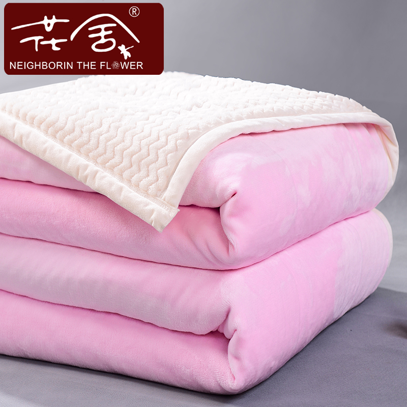 Flowers homes double thick winter fashion solid color flannel blanket coral fleece blanket blankets double wedding