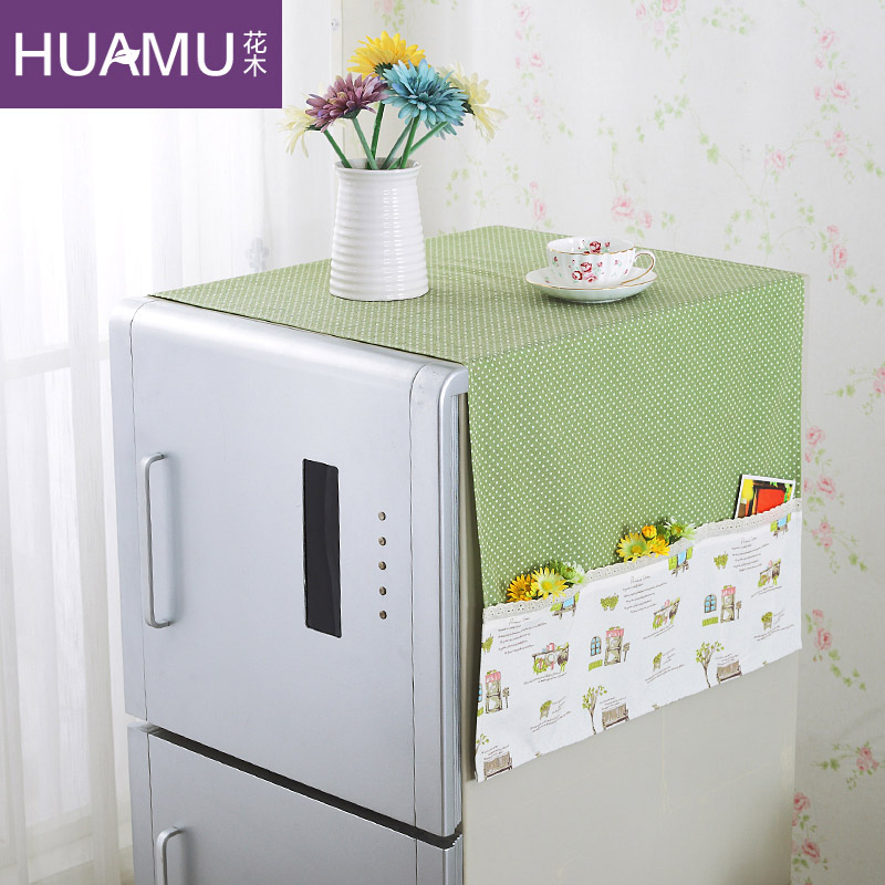 Flowers pastoral air conditioning cover air conditioning cover cloth dust cover pouch refrigerator cover single and double door refrigerator cover