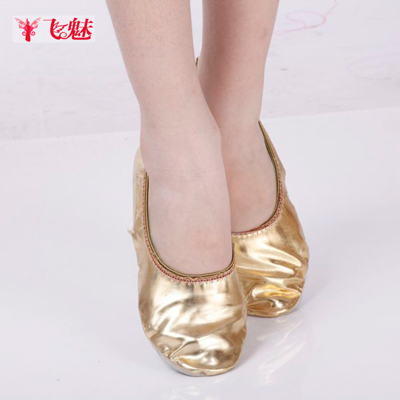Fly charm belly dance belly dance shoes new women's shoes gold shoes soft bottom catlike practice shoes dance shoes dance shoes