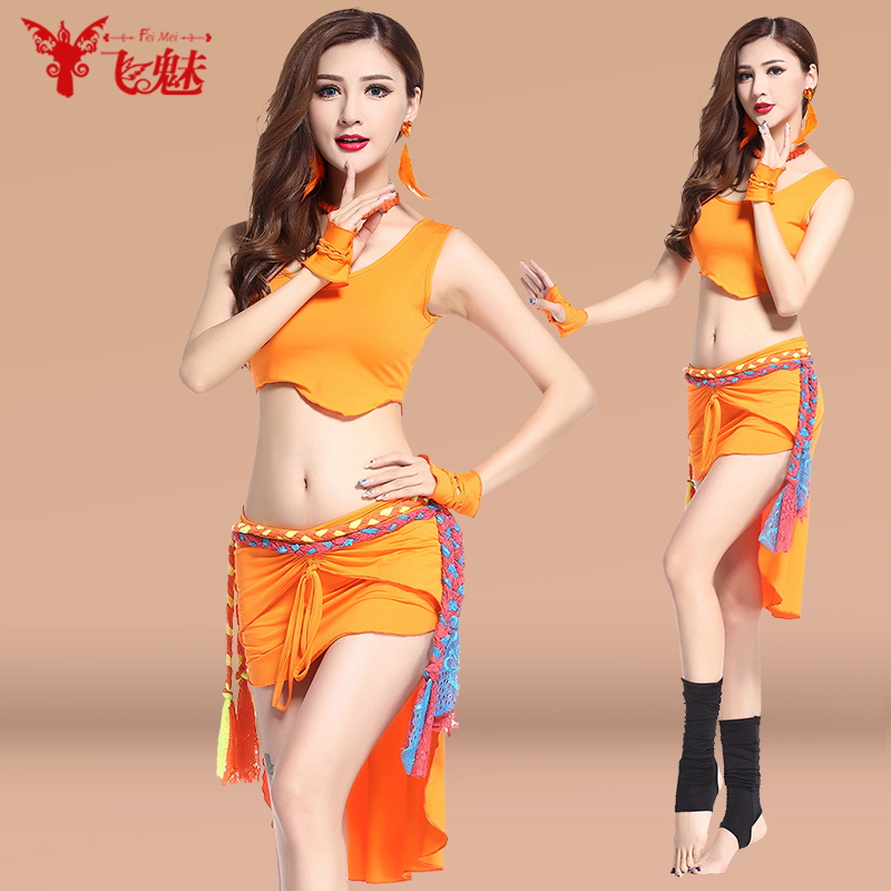 Fly charm belly dance belly dance skirt stage costumes suit belly dance belly dance costume suit new spring and summer vest tops