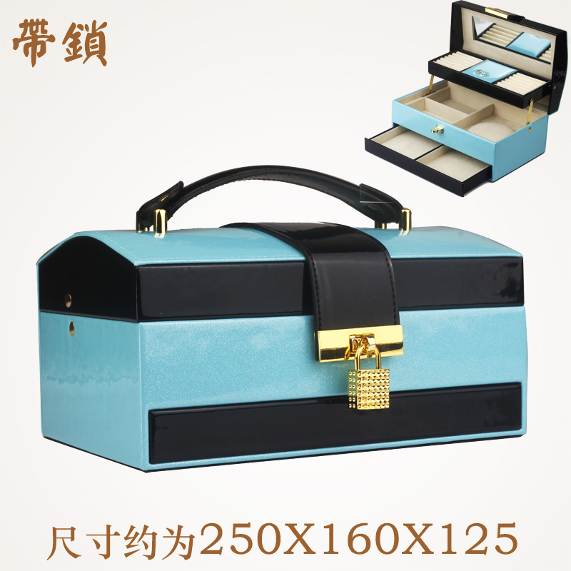 Fong ling jewelry box high leather jewelry storage box wooden jewelry box korea european princess cute female gift