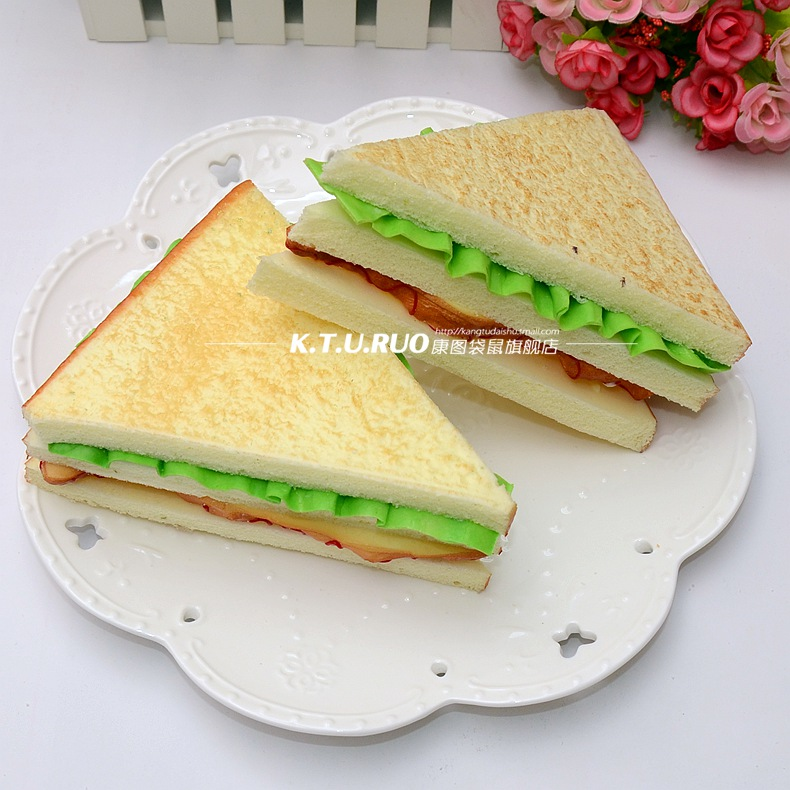 Food and food model simulation fake bread sandwiches sandwich ambry placed decorative road aids children's educational toys