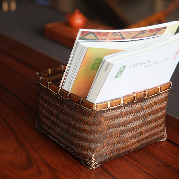 For fine handmade bamboo basket bamboo basket bamboo tea storage bag retro japanese tea ceremony tea accessories accessories