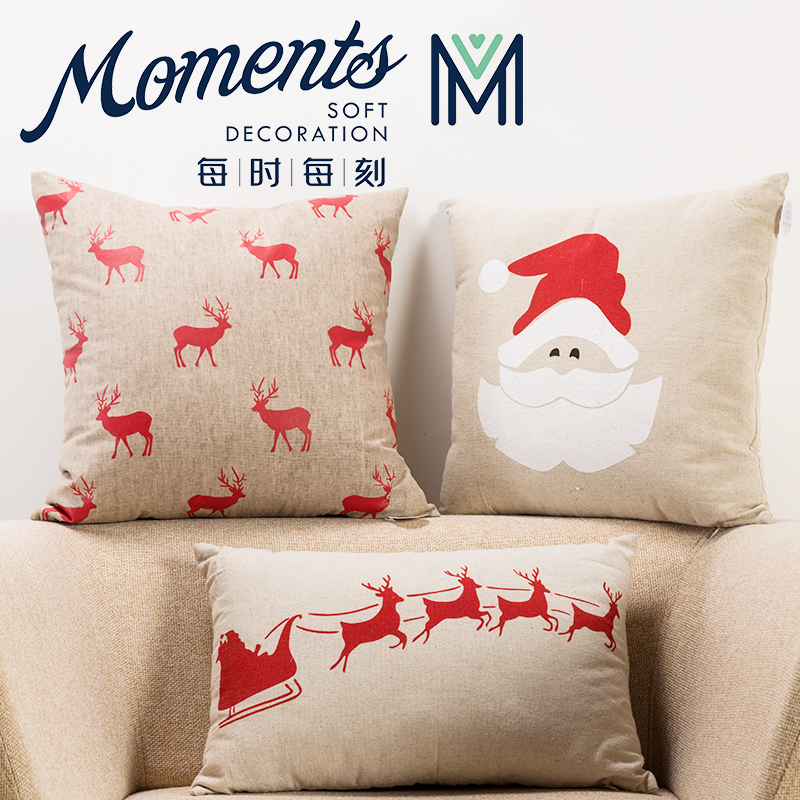 Foreign trade of the original single christmas creative personality fabric sofa bed pillow cushion pillow cushion sofa cushions office washable