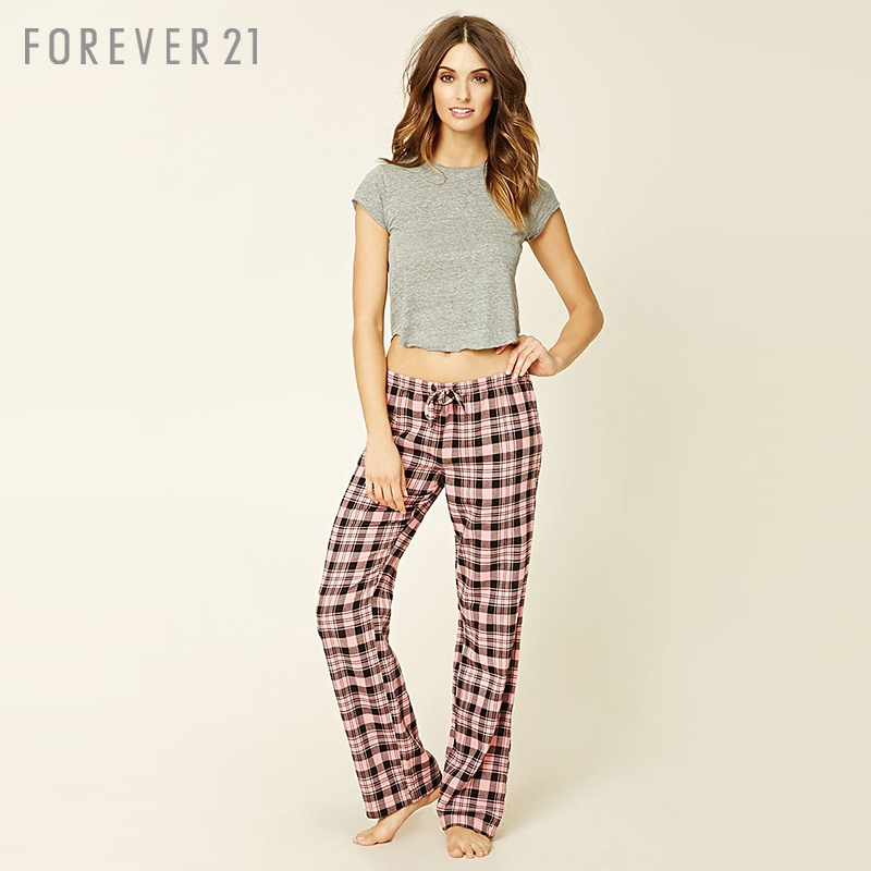 Forever21 comfortable plaid pajama pants at home pajama/slacks