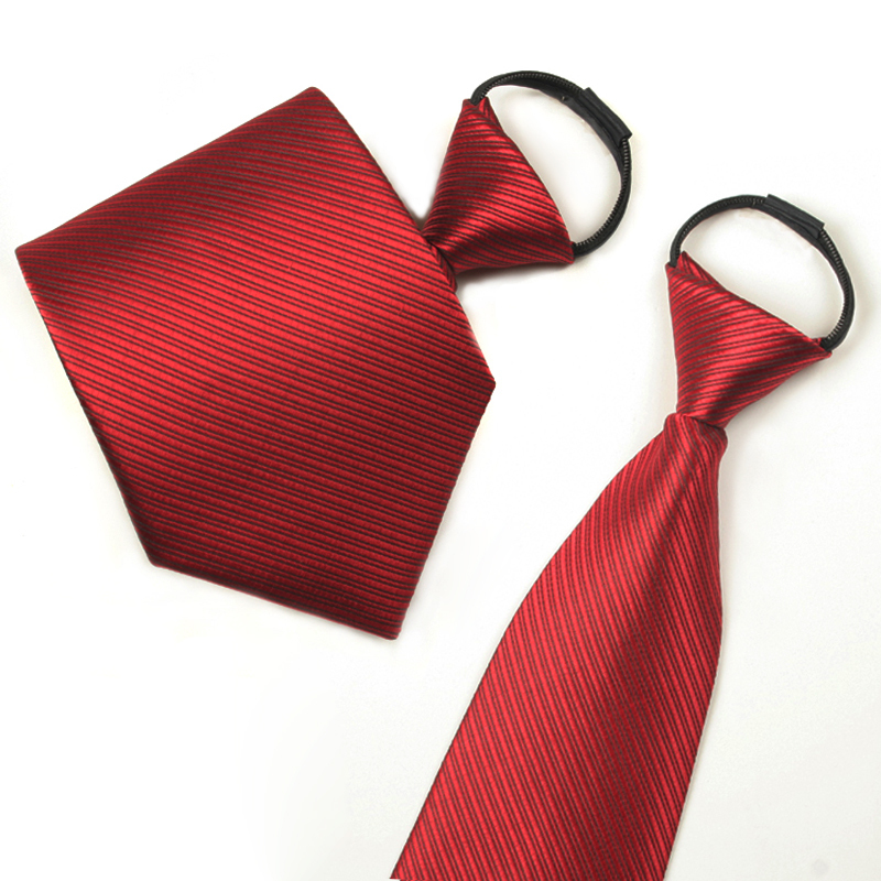 Formal wear business tie zipper tie red tie for men and women convenient tie marriage tie gift box group