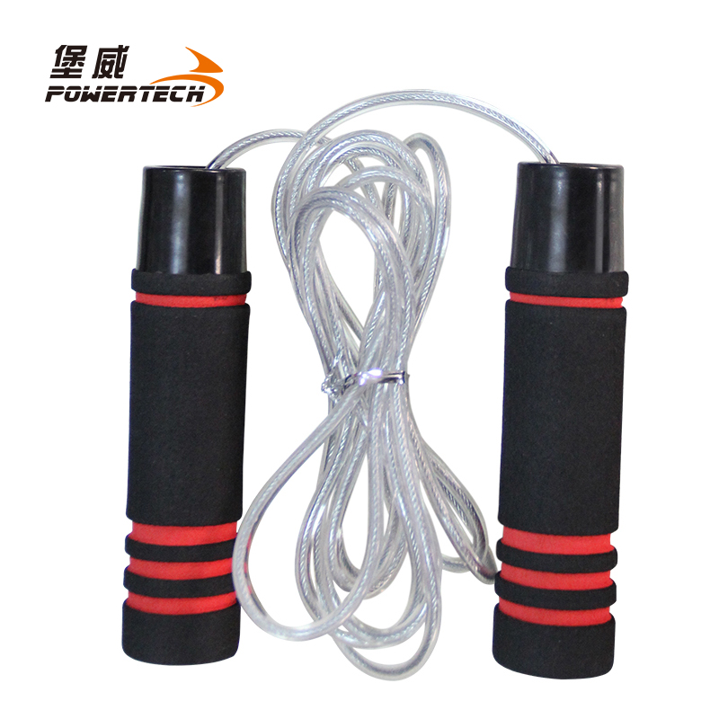 Fort granville professional heavier bearing steel wire rope skipping adult fitness professional boxing single rope skipping rope skipping weight