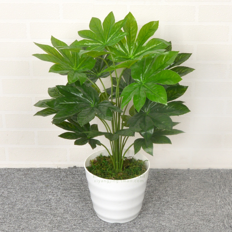 Fortune money leaves simulation simulation green plants potted artificial flowers bonsai small silk flower decoration living room floor decoration