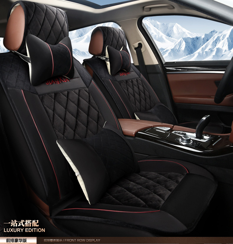 Four seasons general car seat cushion plush new seat cover winter special car seat cover car mats cover the whole package cushions
