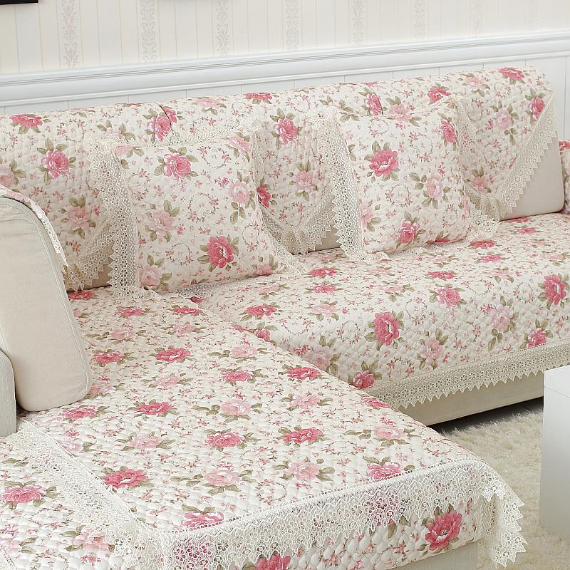... Four Seasons Linen Cushion Sofa Slipcover European Lace Fabric Fashion  Leather Sofa Cushion Slip Towel Slipcover