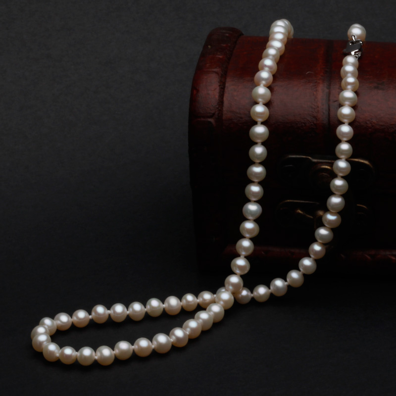 Fran [po] 5-6mm natural freshwater pearls pearl necklace of small mini korean fashion