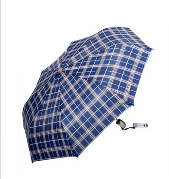 Free shipping authentic paradise umbrella 3339e grid plaid business folded umbrella from the open since closing automatic umbrella uv umbrella