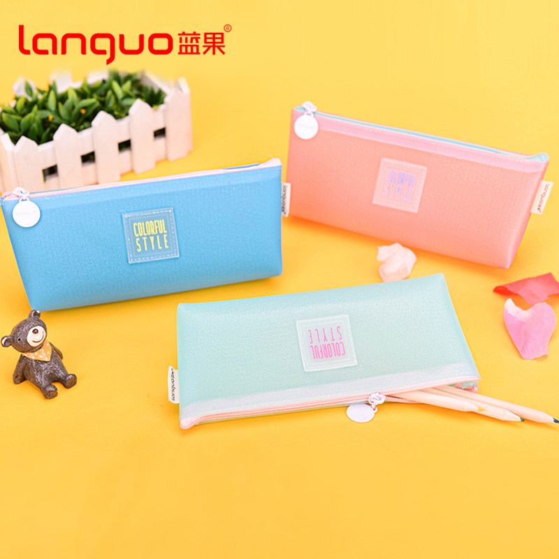 Free shipping blue fruit LG-8483 macarons color korean version of the candy candy pencil pouch