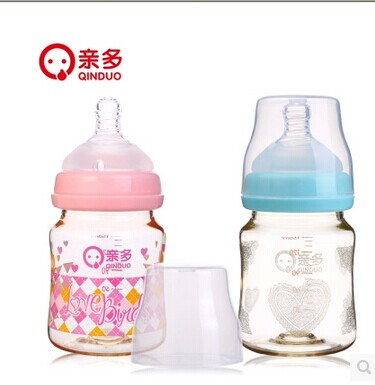 Free shipping colorful ppsu bottle wide mouth bottle feeding baby bottle nipples more pro 4 030 bottles 150 ml