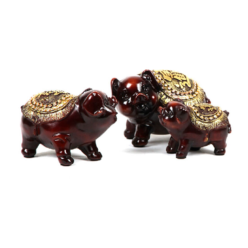 Free shipping cute pig pig ornaments home accessories wedding gifts lucky triple creative fashion resin crafts