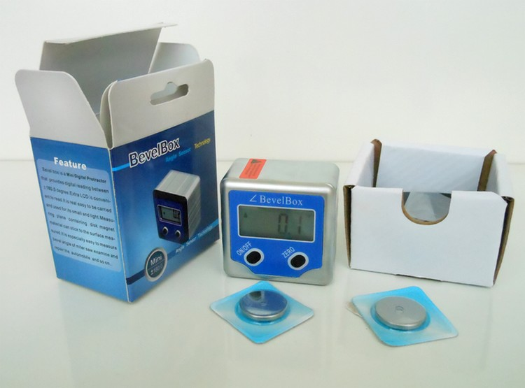 Free shipping digital inclination box full metal with magnetic gradienter/pocket BB-180A inclinometer angle ruler