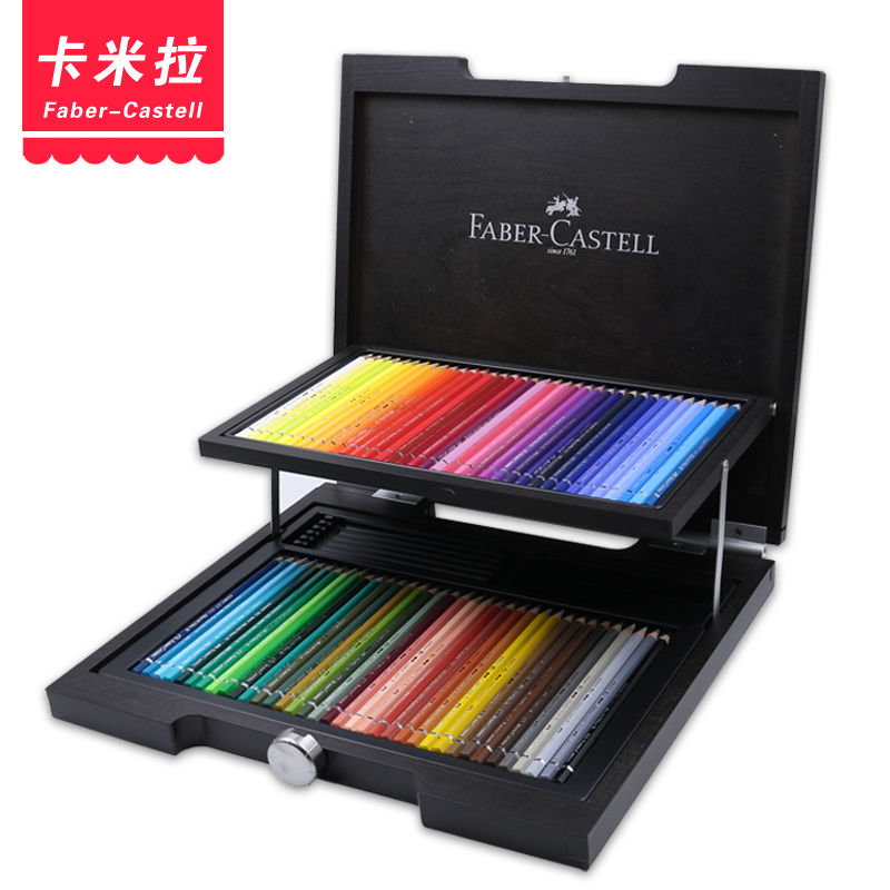 Free shipping germany faber artist grade water-soluble/oily colored pencils set 72 color lead wooden palm