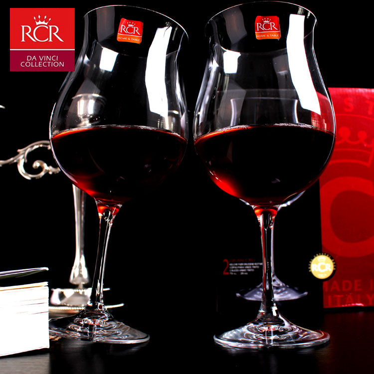 Free shipping italy rcr unleaded crystal glass wine glass of red wine glass of burgundy wine glass wine glass