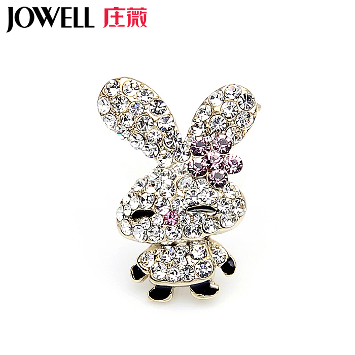 Free shipping jewelry accessories female suit new fashion alloy rhinestone brooch pin brooch korean version of rabbit 428