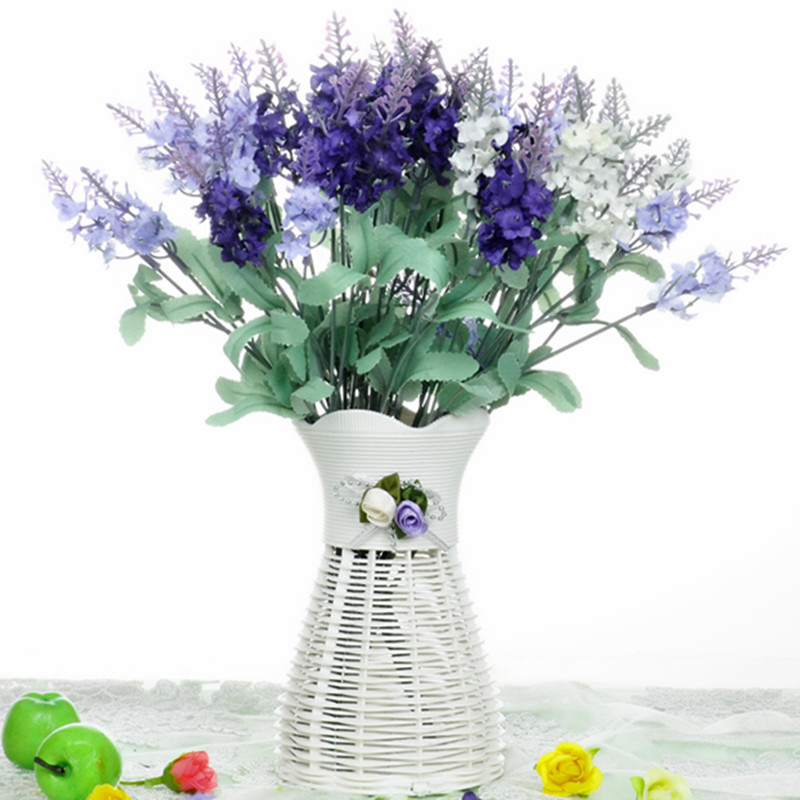 Free shipping lavender artificial flowers artificial flowers decorative flowers suit the living room table coffee table placed pieces of small potted flowers silk flower arrangement