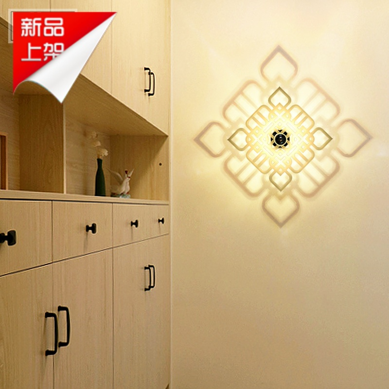 Free shipping led creative minimalist bedroom bedside lamp wall lamp wall lamp post modern art wall lamp wall lamp wall lamp aisle lights