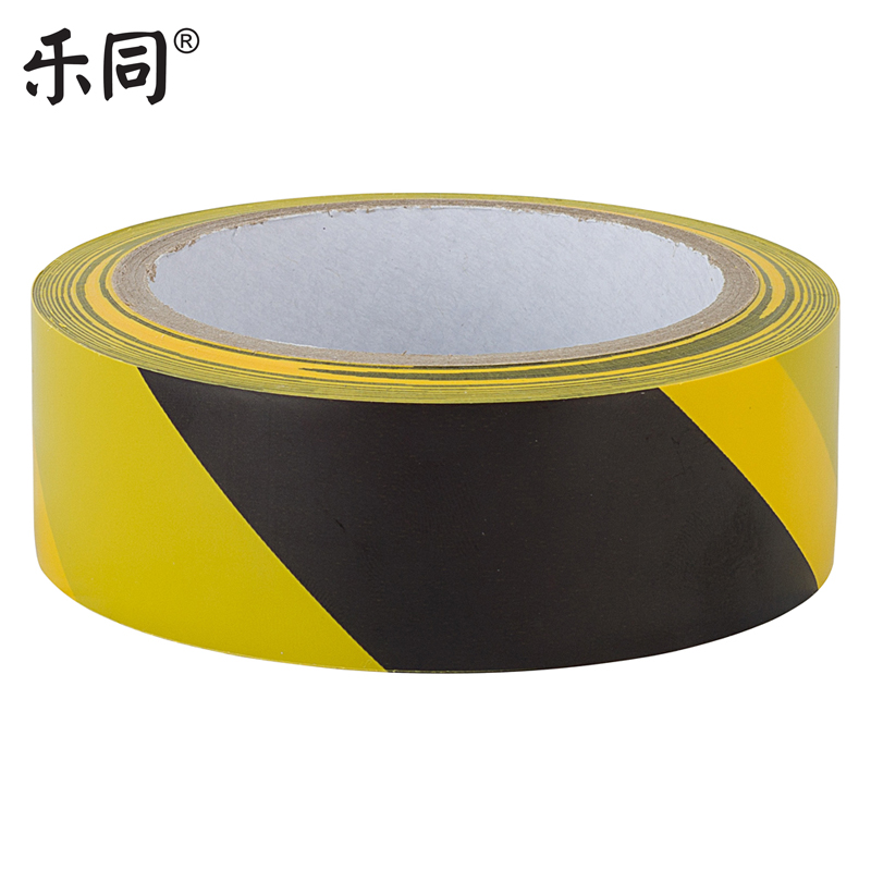 Free shipping music with yellow and black warning tape ground floor marking tape 36mm * 22 m * 0. 15mm8 100个