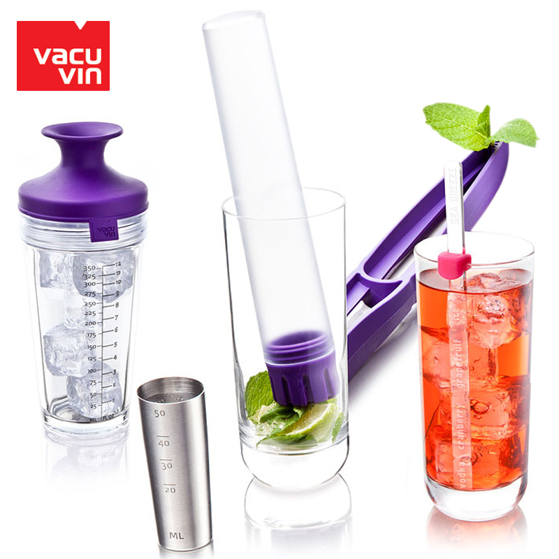 Free shipping netherlands imported vacu vin van cool wine cocktail glass cocktail shaker snow grams of pot shaker scale measuring cup