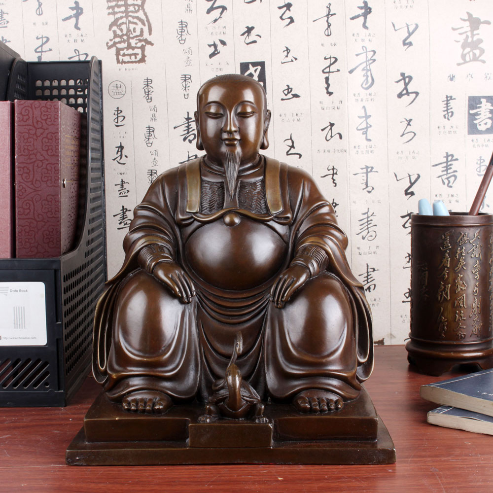 Free shipping open light copper ornaments tien god zhenwu copper statue of guan large home feng shui ornaments housewarming gifts