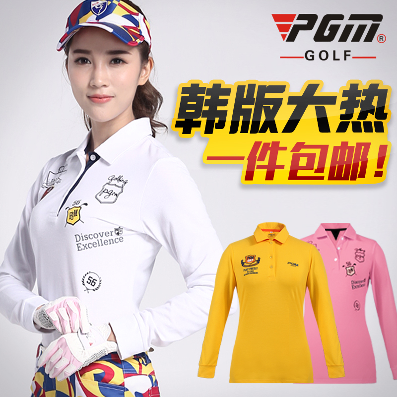 Get Quotations · Free shipping! pgm ladies golf apparel long sleeve t-shirt korean version of the