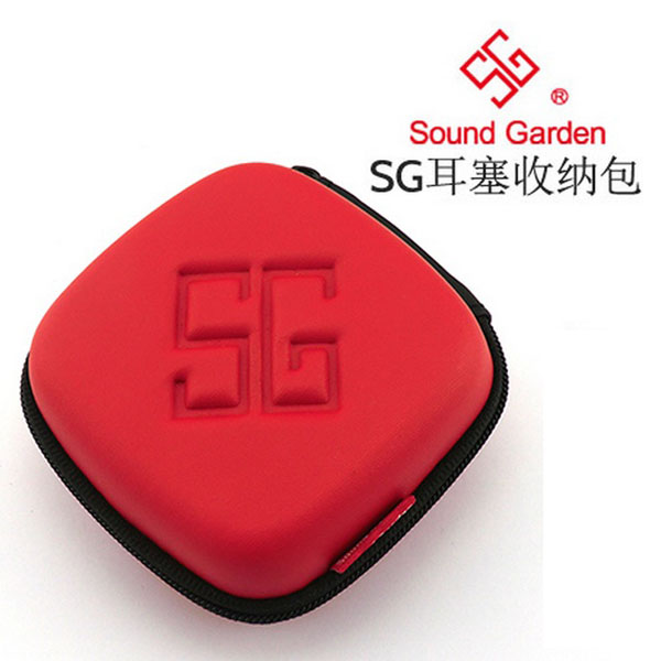 Free shipping sound garden sg headphones pack earplugs sound round eva compression bag storage bag portable storage box