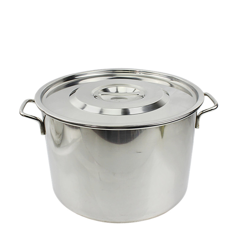 Free shipping special thick 2MM thick cecectomized encebollado without magnetic stainless steel soup pot large pot of soup and a half barrels migang bucket drums