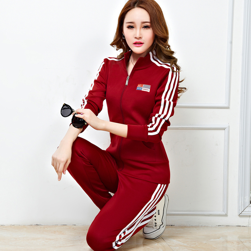 Free shipping spring and autumn new korean women casual long sleeve cardigan suit big yards was thin sweater female sportswear shipped move